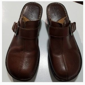 B.O.C Brown Leather Mules